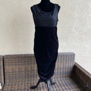 Motherhood Maternity Black Velour Sheath Dress M